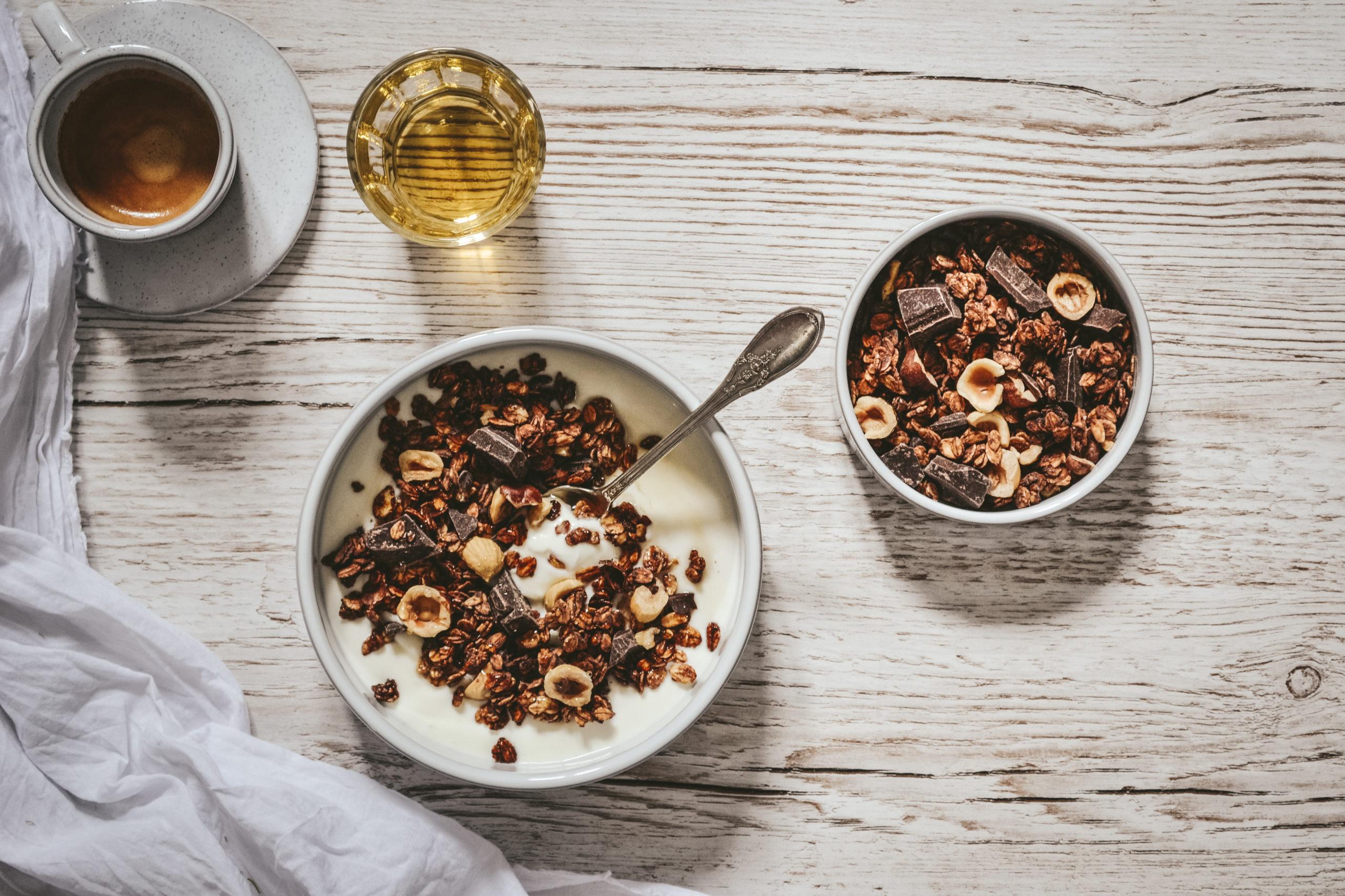 Granola noisette chocolat