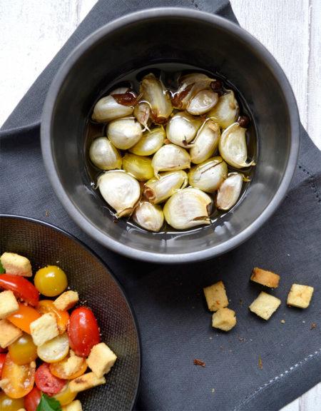 Ail confit à l'huile d'olive