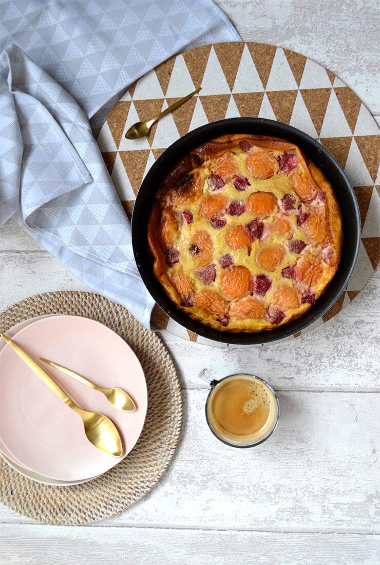 Clafoutis abricot fraise