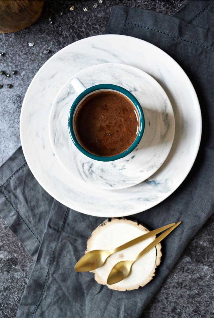 Chocolat chaud au praliné