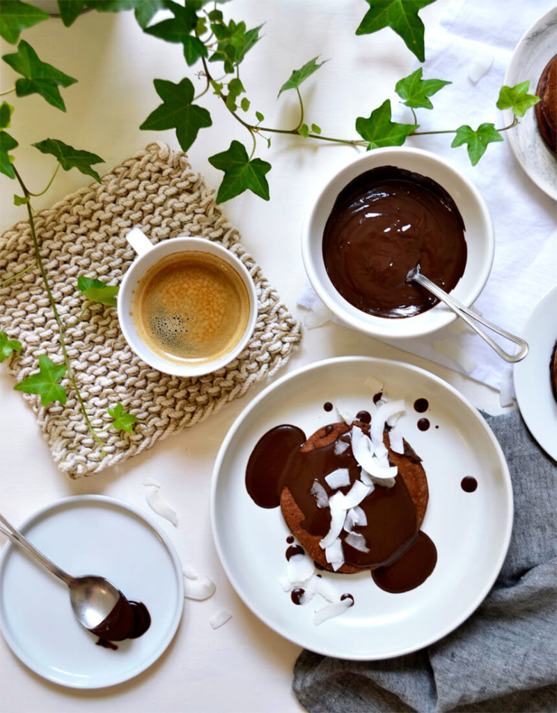 Pancakes au cacao faciles