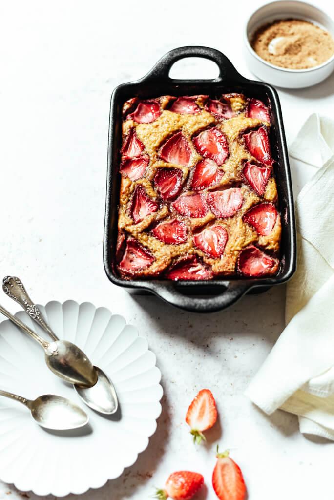 Gâteau Weight Watchers aux fraises à 3 points